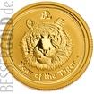 Zlatá mince 1/4 oz (trojské unce) ROK TYGRA Austrálie 2010