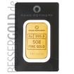 Zlatý slitek 50g RAND REFINERY (Jižní Afrika)