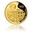 Zlatá čtvrtuncová medaile Rozhledna Josefova věž na Kleti proof