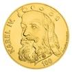 Zlatá kilogramová investiční medaile s motivem 100 Kč bankovky - Karel IV. stand