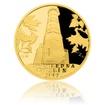 Zlatá čtvrtuncová medaile Rozhledna Cvilín proof