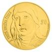 Zlatá kilogramová investiční medaile s motivem 50 Kč bankovky - sv. Anežka Česká stand