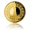 Zlatá čtvrtuncová medaile Rozhledna Lednický minaret proof