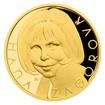 Zlatá půluncová medaile Hana Zagorová proof číslováno