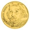 Zlatá kilogramová investiční medaile s motivem 20 Kč bankovky - Přemysl Otakar I. stand