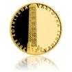 Zlatá čtvrtuncová medaile Rozhledna Vartovna proof
