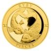 Zlatý dukát Znamení zvěrokruhu s věnováním - Ryby proof