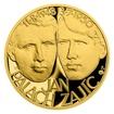 Zlatý dukát Národní hrdinové - Jan Palach a Jan Zajíc proof