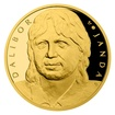 Zlatá půluncová medaile Dalibor Janda proof