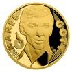 Zlatá půluncová medaile Karel Gott - Zpěvák proof