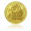 Zlatá investiční mince Jan Hus a John Wycliff proof