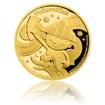 Zlatá mince 50 let výročí Večerníčka proof