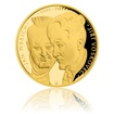 Zlatá dvouuncová investiční mince Voskovec a Werich proof