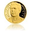 Zlatá čtvrtuncová mince Ivo Viktor proof