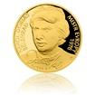 Zlatá čtvrtuncová mince Karol Dobiaš proof