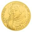 Zlatá investiční mince 100dukát svaté Ludmily stand