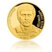 Zlatá čtvrtuncová mince Antonín Panenka proof