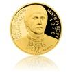 Zlatá čtvrtuncová mince Zdeněk Nehoda proof