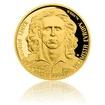 Zlatá čtvrtuncová mince Karel Poborský proof
