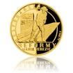 Zlatá čtvrtuncová mince Reformy Marie Terezie - hospodářská proof