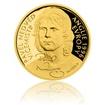 Zlatá čtvrtuncová mince Pavel Nedvěd proof