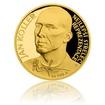 Zlatá čtvrtuncová mince Jan Koller proof