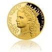 Zlatá uncová mince Alžběta Bavorská - Sissi proof