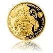 Zlatá čtvrtuncová mince Arnošt z Pardubic - první česká korunovace českého krále proof