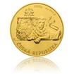 Zlatá kilogramová investiční mince Český lev 2018 stand