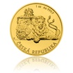 Zlatá uncová investiční mince Český lev 2018 stand