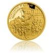 Zlatá mince Válečný rok 1943 - Povstání ve varšavském ghettu proof