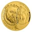 Zlatá dvouuncová investiční mince Rudolf II. Habsburský a Magistr Kelley proof