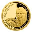 Zlatá čtvrtuncová mince České tenisové legendy - Jana Novotná proof