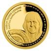Zlatá čtvrtuncová mince České tenisové legendy - Martina Navrátilová proof