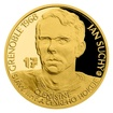 Zlatá čtvrtuncová mince Legendy čs. hokeje - Jan Suchý proof