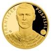 Zlatá čtvrtuncová mince Legendy čs. hokeje - František Pospíšil proof