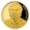 Zlatá půluncová mince Ivan Hlinka proof