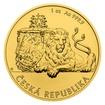 Zlatá uncová investiční mince Český lev 2019 stand