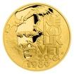 """Zlatá mince Cesta za svobodou - Petice """"Několik vět"""" proof"""