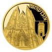 Zlatá čtvrtuncová mince Vznik královského hlavního města Praha - Hradčany proof