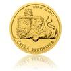 Zlatá 1/25oz investiční mince Český lev 2019 stand
