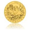 Zlatá kilogramová investiční mince Český lev 2019 stand