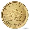 Zlatá investiční mince 1/20 Oz 1 CAD Maple Leaf stand