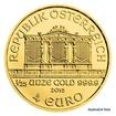 Zlatá investiční mince 1/25 Oz 4 EUR Wiener Philharmoniker stand