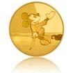 Zlatá mince 0,5 g Mickey Mouse Statečný krejčík proof