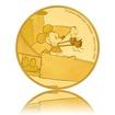 Zlatá mince 0,5 g Mickey Mouse Bláznivé letadlo proof