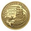 Zlatá slov. mince 100 EUR 2017 Jeskyně Slovenského krasu proof