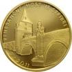 Zlatá mince 5000 Kč Renesanční most ve Stříbře 2011 Proof