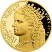 Zlatá uncová mince Alžběta Bavorská - Sissi 2017 Proof