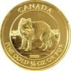 Zlatá investiční mince Arctic Fox 1/4 Oz 2014